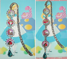 ALICE IN WONDERLAND Bookmark With Pendant Book Mark Disney Cheshire Cat Queen