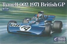 KIT EBBRO 1:20 DA COSTRUIRE IN PLASTICA TYRELL 002 1971 BRITISH GP  ART  008