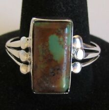 Native American Navajo Sterling Silver Royston Turquoise Ring Size 10