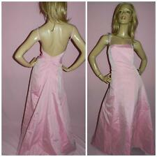 80s VERA MONT BABY PINK LOW BACK TRAILING MAXI DRESS 12 1980s PROM BRIDESMAID