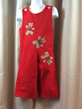 KELLY'S KIDS Red Holiday Teddy Bear Long All Long Jon Boys 2 2T Christmas