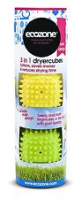 Ecozone Dryer Cubes Tumble Dryer Balls - new softer material with variable no...