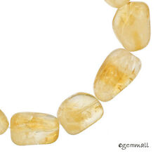"Natural Citrine Tumble Nugget Beads ap. 12x17mm 7.8"" #62091"