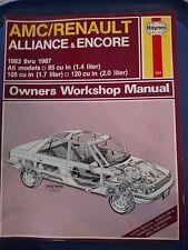 Haynes Repair Manual 934 - AMC/Renault - Alliance & Encore 1983-1987