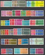 Europe, 1971 EUROPA - CEPT issues complete, 21 countries, 43 stamps, VF