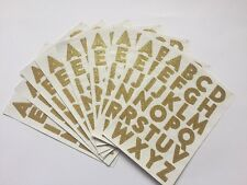 260 GOLD GLITTER ALPHABET STICKERS-STICKER-10 SHEETS CAPITAL LETTERS-3cm-LARGE