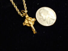 bling gold plated god jesus cross crucifix pendant charm chain hip hop necklace