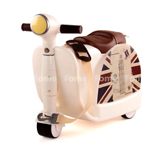 FOME Ride-On Suitcase, Children's Multifunction Luggage Cart Storage Toy Box Sui