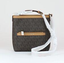 MICHAEL KORS Brown MK Signature PVC Morgan Messenger Bag