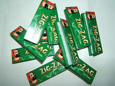 10x50 PACKS BOOKS BOOKLETS GREEN STANDARD ROLL-UP CIGARETTE PAPERS CUT CORNERS