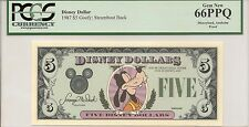 1987 $5 Goofy Disney Dollar PCGS 66 PPQ First year Type 1 PROOF Rare no serial #