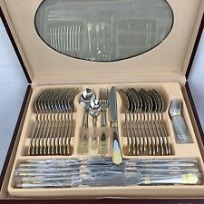 Kaiserkoch-Germany Versace New 84 Pcs Dinning Set 12 Wooden Case Flatware
