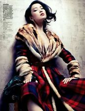 Louis Vuitton Runway/Editorial Tartan Coat With Fur Fall/Winter 2004 Size 34FR