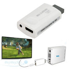 New Wii to HDMI 720P 1080P HD Output Converter Adapter For 3.5mm Audio