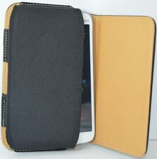 Premium Leather Belt Pouch Magnetic Flip Cover Nokia Asha 308 black