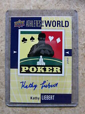 2011 World Of Sports Athletes of the World Poker KATHY LIEBERT Auto Razor Leaf