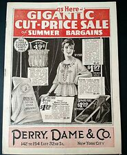 Antique Catalog New York Summer 1920 by Perry, Dame & Co Flapper Fashion