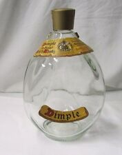 Vintage DIMPLE Old Blended Scotch Whiskey 3-Sided Empty Bottle w/Lables