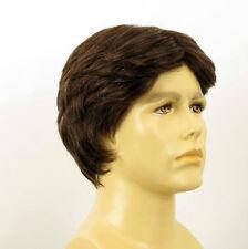 Perruque homme 100% cheveux naturel châtain ref THIBAUT  6spw