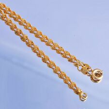amazing jewellery long 24K gold Filled Water Waved Twisted womens necklace chain