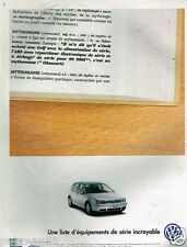 Publicité advertising 1999 VW Volkswagen Golf