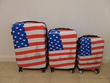 3-piece US American Flag Spinner Luggage Set Guaranteed