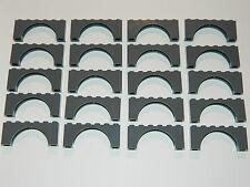 LEGO ARCH 1x2x6 x20 pieces # DARK STONE GREY # bridge window wall castle *