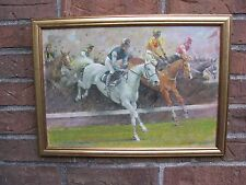 ENGLISH ARTIST KENNETH WYNN OIL/CANVAS/BOARD PAINTING, DESERT ORCHID HORSE RACE