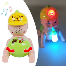 Electric Crawling Boy Toy Doll with Light + Sound Baby Educational Musical Toys