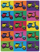 Vespa Pop Art Letrero De Metal (Hr)