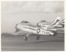 """F-86 SABRE JETS ~ DRAMATIC CLOSE UP OF """"TAKE-OFF""""~ c.-1950"""