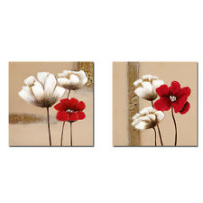 Framed Painting Pic Canvas Print Abstract Flowers Landscape Wall Art Home Decor