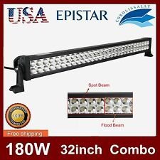 32inch 180W Epistar Led Light Bar Spot Flood Offroad Truck 4wd Suv Jeep Atv Boat
