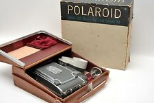 VINTAGE PHOTO POLAROID ELECTRIC EYE LAND CAMERA MODEL 900 WITH FLASH & CASE
