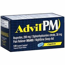 Advil PM Pain Reliever/Nighttime Sleep Aid, Ibuprofen and Diphenhydramine