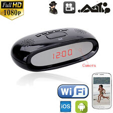 Wireless Full HD 1080P WiFi Alarm Clock Camera DVR Motion Video APP Camcorder DV