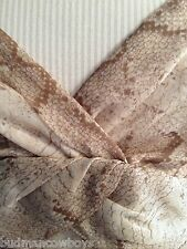 DONNA DEGNAN SHEAR BEIGE SILK REPTILE PRINT LINED CAMISOLE SIZE 8 NWOT