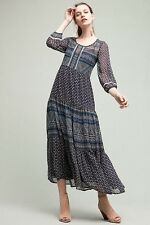 NWT SZ 16 ANTHROPOLOGIE NEW GEOMETRY TIERED MAXI DRESS BY FLOREAT 5STAR FAVE