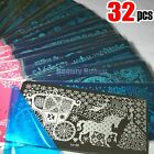 NEW 32pcs XL FULL Nail Stamping Plate Stamp Disc Print Transfer Template Stencil