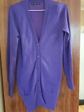 JAY JAYS ladies long purple cardigan (size small)