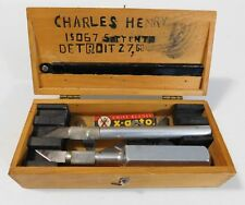Vintage Xacto Knife Set with Blade in Wooden Box with X-Acto Logo