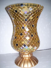 Partylite GOLD GLOBAL FUSION HURRICANE NIB