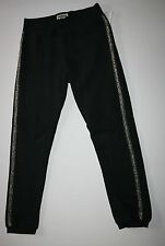 New OshKosh Black Knit Fleece Pants Size 6 Kid NWT Active Pants Gold Acccent