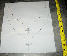 Rhinestud Double Cross Necklace Iron On Press On Transfer