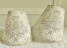 SUPERB ARABESQUE DAMASK MOTIF CANDLE LAMPSHADE 11 x 13 cm / 4.3 x 5.1 ins (blue)