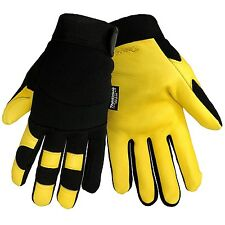 Deerskin Leather Insulated Fleece Lined Outdoor Winter Work Sports Gloves Medium