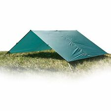 Aqua Quest Guide Sil Tarp - 100% Waterproof & UltraLight 10 x 13 ft Large Green