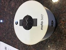 Motorola Moto 360 46mm Android Stainless Steel Black Metal Band Smart Watch New