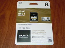 Sony Branded 8GB SDHC UHS-I SD DSLR Memory Card - Class 10 - 40MB/S SF-8UY/TQ1