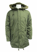 US Army Fishtail Parka, MOD Retro Scooter Genuine M65 Cold Weather Long Jacket
